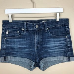 AG Jean Pixie Roll-Up Shorts Size 28 G27
